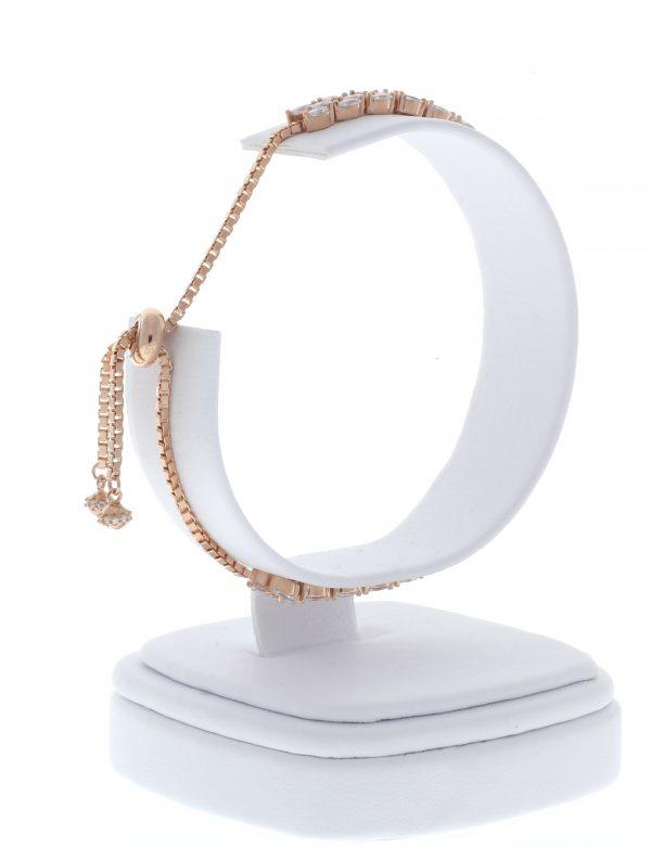 Rose Gold Sterling Adjustable Tennis Bracelet