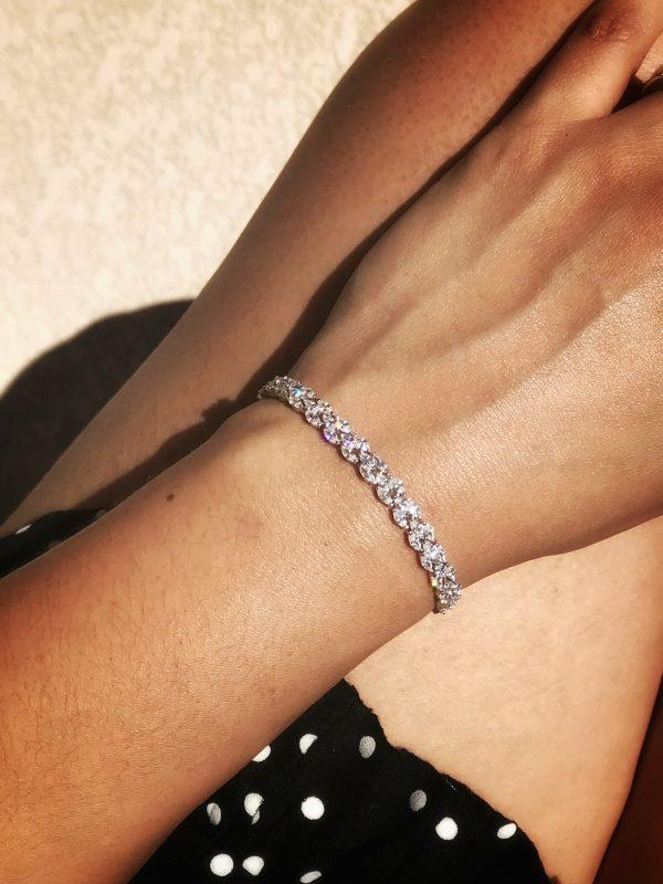 Sterling Silver Adjustable Tennis Bracelet