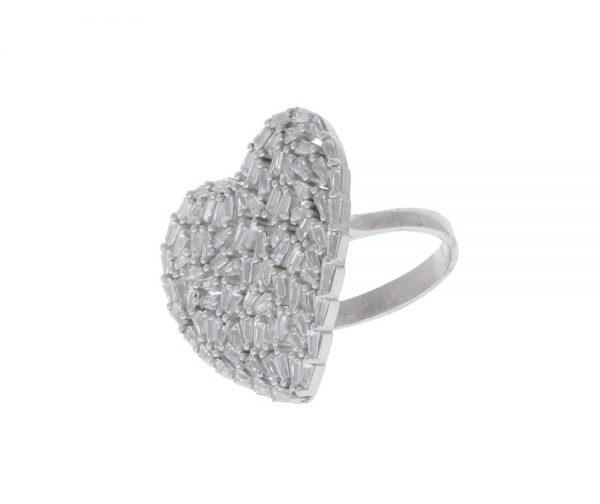 Kamila Baguette Statement Sterling Silver Ring